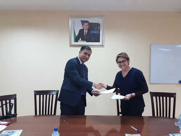 Signed a cooperation agreement with the Uzbek-Japanese Center